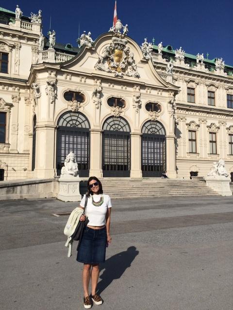 Me enjoying the sun at Belvedere Castle. #indiansummer